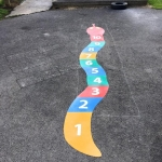 Playground markings number snake